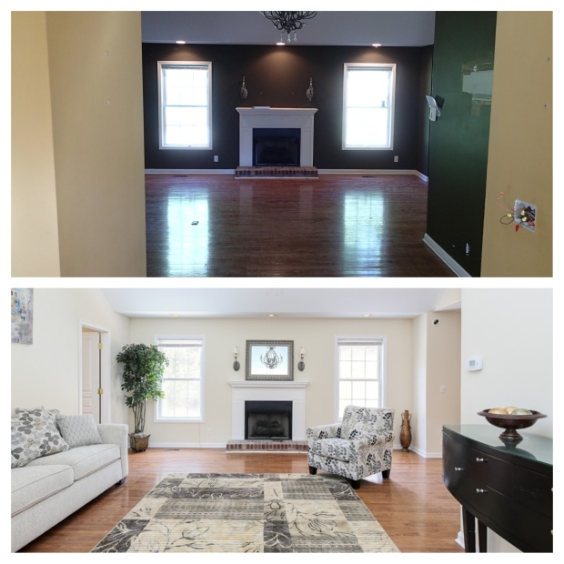 Oak Valley Living Room Before & After